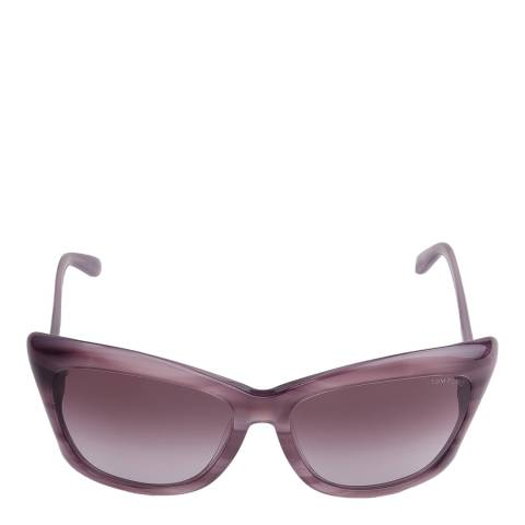 Tom Ford Women's Lana Striped Dark Violet/Gradient Wine Red Sunglasses 59mm