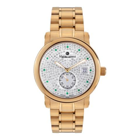 Mathieu Legrand Women's Gold Stainless Steel Mille Etoiles Watch