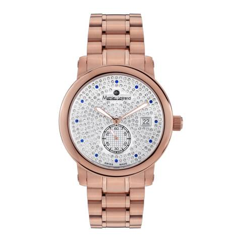 Mathieu Legrand Women's Rose Gold Stainless Steel Mille Etoiles Watch