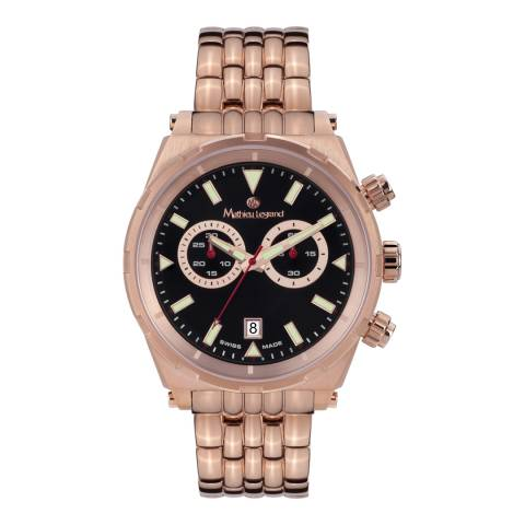 Mathieu Legrand Men's Rose Gold Stainless Steel Master Watch
