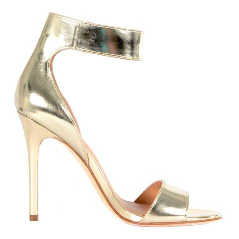 Halston Heritage Gold Leather Marley Sandals