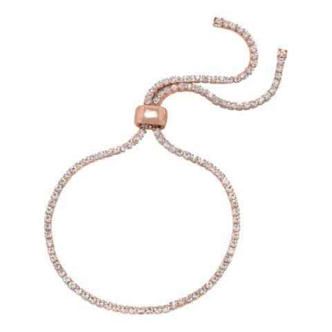 Black Label by Liv Oliver Rose Gold Adjustable Crystal Bracelet