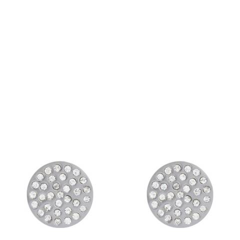 Black Label by Liv Oliver Rose Gold Pave Crystal Disc Earring