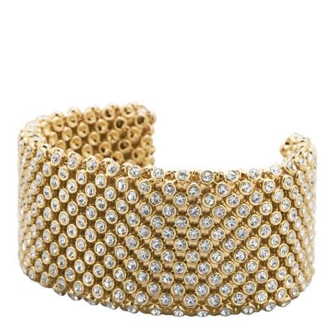 Black Label by Liv Oliver Gold Crystal Cuff Bracelet
