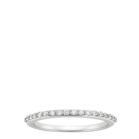 Black Label by Liv Oliver Silver Zirconia Ring