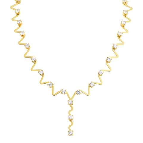 Black Label by Liv Oliver Gold Embellished Necklace