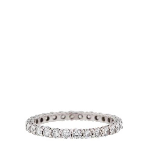 Black Label by Liv Oliver Silver Eternity Zirconia Ring
