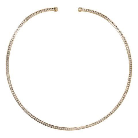 Black Label by Liv Oliver Gold Crystal Collar Necklace