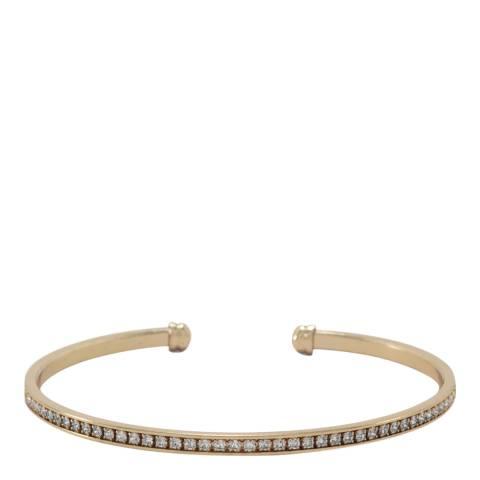 Liv Oliver Gold Crystal Cuff Bracelet
