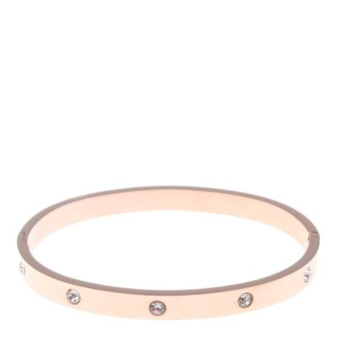 Black Label by Liv Oliver Rose Gold Embellished Bangle