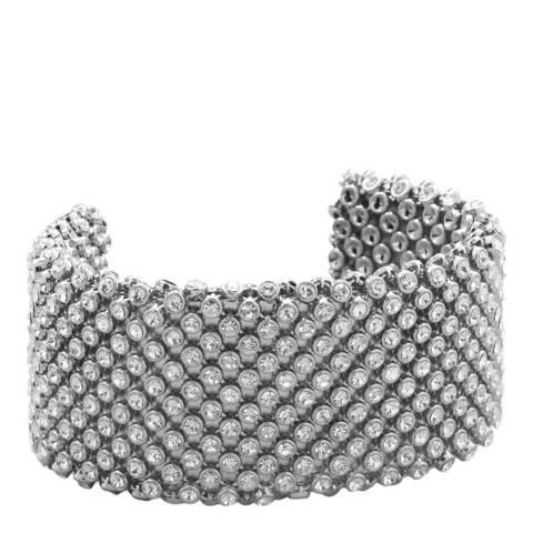 Black Label by Liv Oliver Silver Crystal Embellished Bracelet