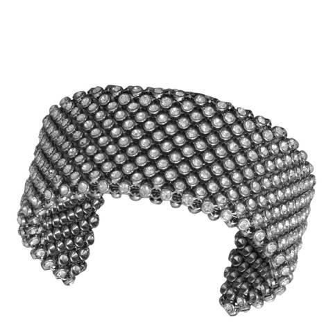 Black Label by Liv Oliver Black Crystal Embellished Bracelet