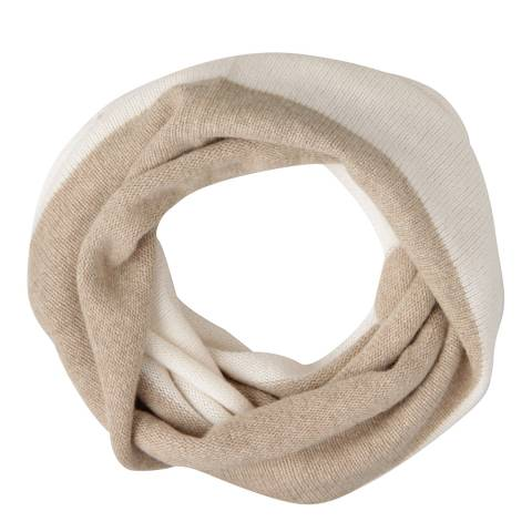 Laycuna London Taupe/Winter White Cashmere Snood