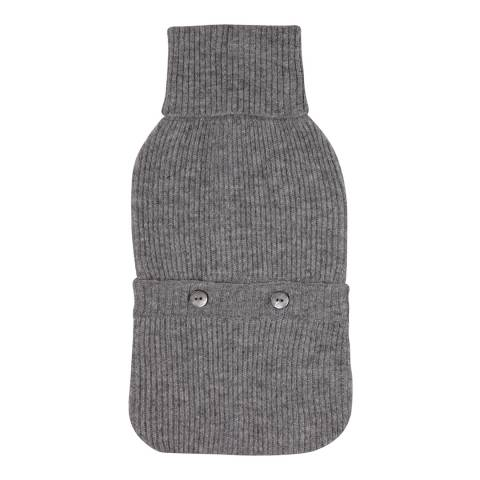 Laycuna London Grey Marl Cashmere Hotwater Bottle Cover