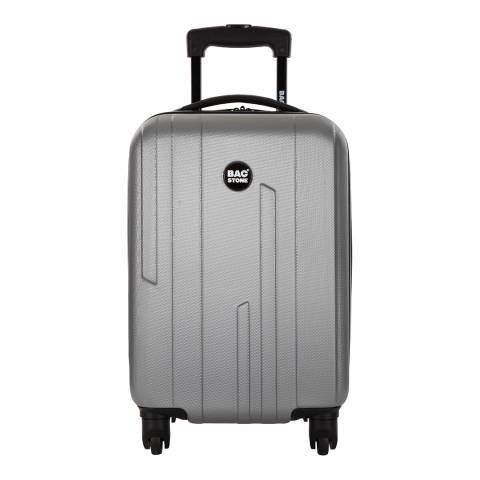 Bagstone Silver Large Spinner Suitcase 66cm