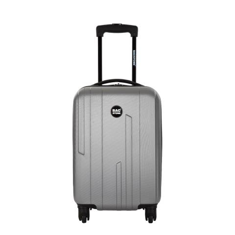 Bagstone Silver Small Spinner Suitcase 45cm
