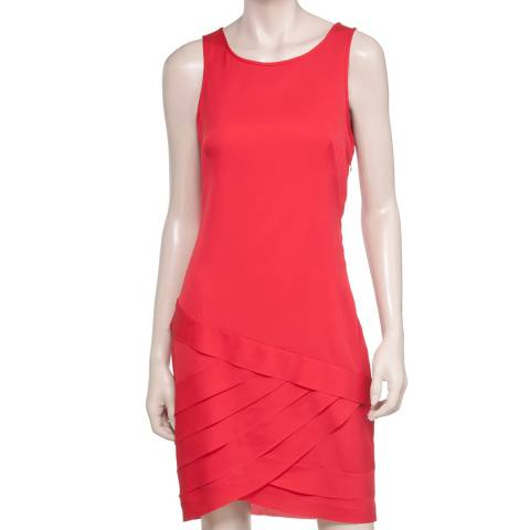 Leon Max Collection Red Banded Tank Dress