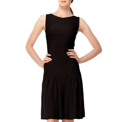 Leon Max Collection Black Knitted Hip Detail Dress