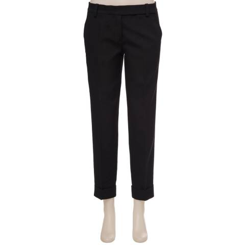 Leon Max Collection Black Cuffed Trousers