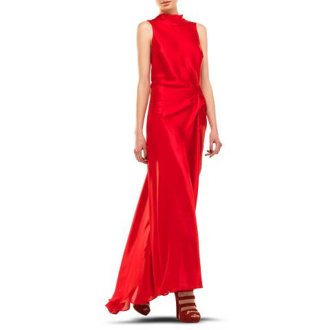 Leon Max Collection Red Long Draped Dress