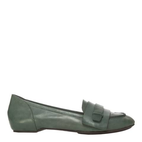 Leon Max Collection Peacock Leather Dodger Loafers