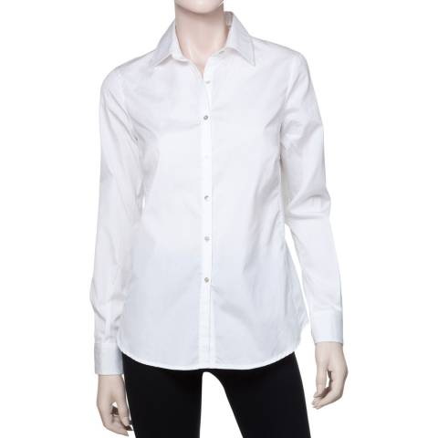 Leon Max Collection White Slim Fitting Shirt