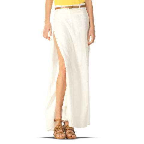 Leon Max Collection White Long Skirt