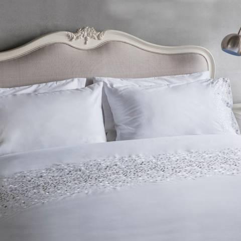 Parisian House White Confetti Double Duvet Cover Set