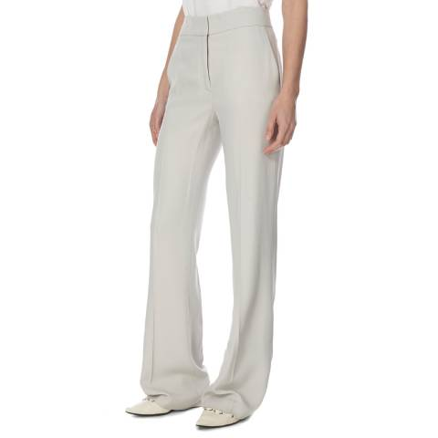 Joseph Light Grey Jagger Fluide Crepe Trousers