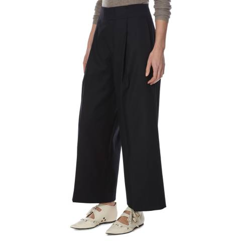 Joseph Navy Cotton Stretch Culottes
