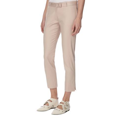 Joseph Light Pink Cotton Stretch Cropped Trousers