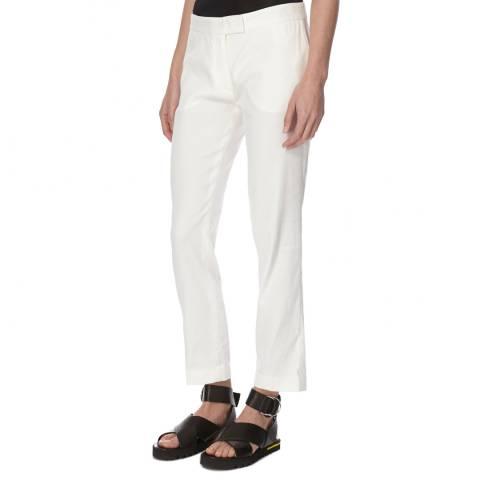 Joseph Cream Cotton/Linen Blend Finley Trousers