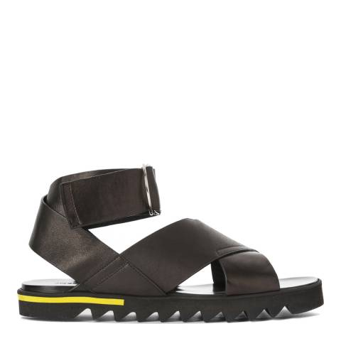 Joseph Black Leather Sandal