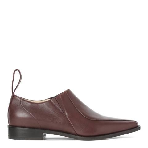Joseph Burgundy Leather Cowboy Shoes