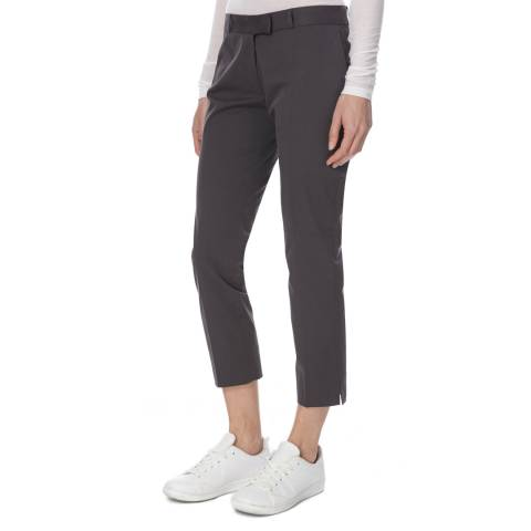 Joseph Grey Cotton Stretch Cropped Trousers