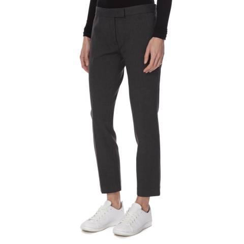 Joseph Dark Grey Cotton Blend Finley Trousers