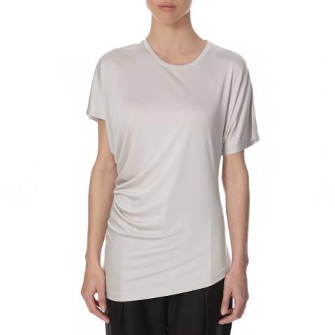 Joseph Light Grey Silk Top