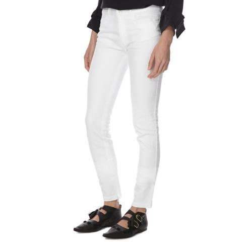 Joseph White Mid Rise Cotton/Linen Stretch Jeans