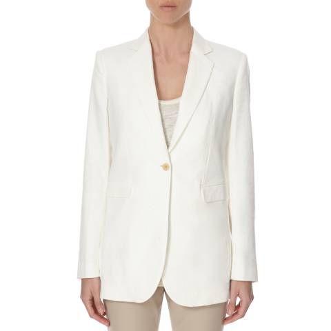 Joseph Off White Linen/Cotton Blend Laurent Jacket