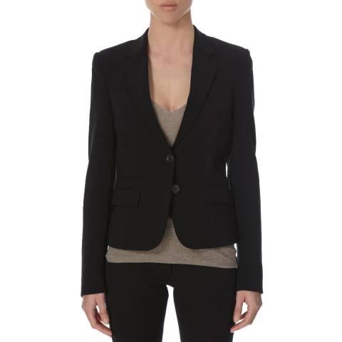 Joseph Black Crepe Single Breasted Jacket