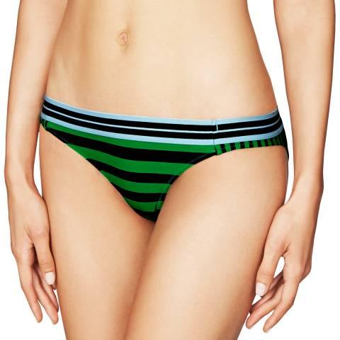 Stella McCartney Green Stripe Classic Bikini Briefs