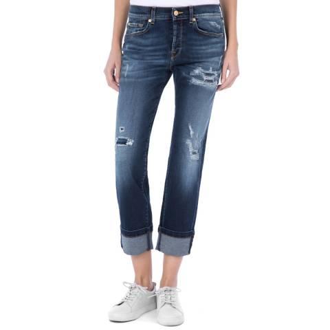 7 For All Mankind Blue Jared Boyfriend Stretch Jeans