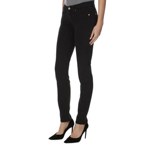 7 For All Mankind Black Roxanne Skinny Fit Stretch Jeans