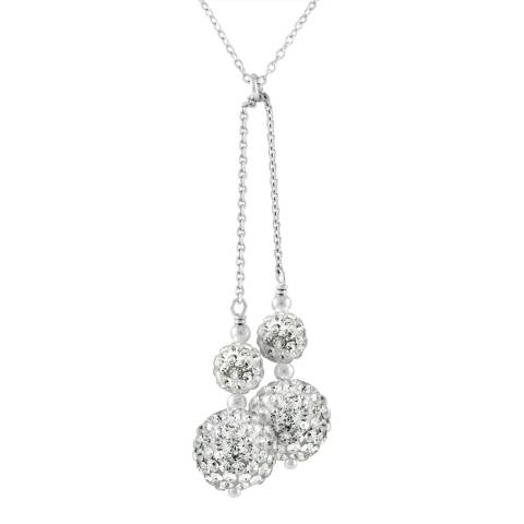 Wish List White/Silver Crystal Necklace
