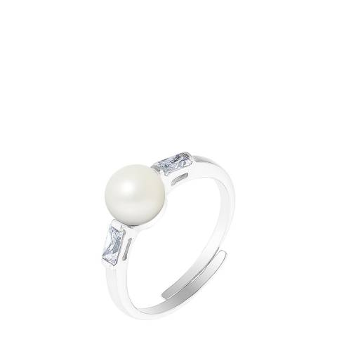 Wish List Silver/White Pearl Ring