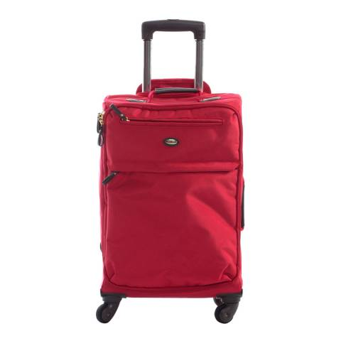 BRIC'S Red Travel Trolley 4 Wheel Spinner 55cm