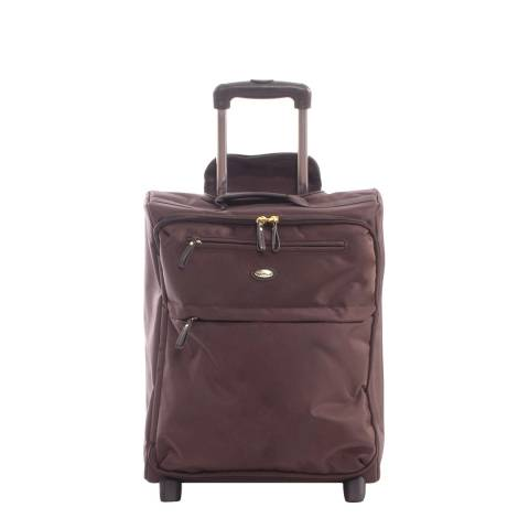 BRIC'S Brown Travel Trolley 2 Wheel Upright 50cm