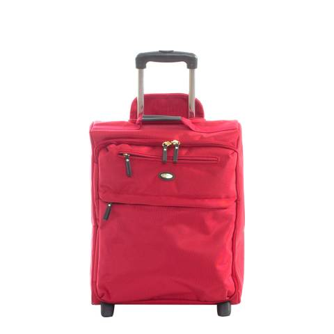 BRIC'S Red Travel Trolley 2 Wheel Upright 50cm