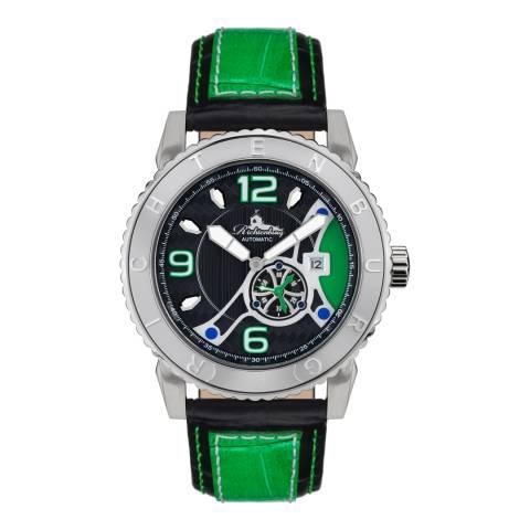Richtenburg Men's Green Stainless Steel/Leather Jakarta Watch