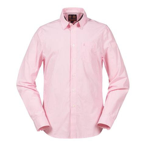 Musto Men's Pink/White Heathfield Fine Stripe Shirt